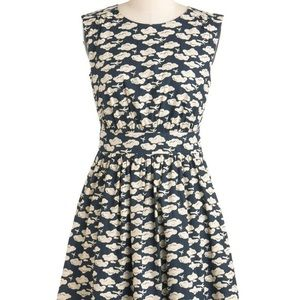 Emily and Fin airplanes dress from ModCloth